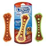 Hartz Chew 'n Clean Dental Duo Bacon Flavored Dental Dog Chew Toy and Treat - Large, Colors may vary