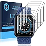 LK 8 Pack Screen Protector Compatible with Apple Watch Series 6 SE Series 5 44MM, Max Coverage, Self-Healing, Bubble Free, HD Transparent Flexible TPU Film for iwatch 44mm
