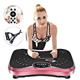 NIMTO Vibration Plate Exercise Machine Whole Body Workout Vibration Fitness Platform for Home Fitness & Weight Loss + Remote + Loop Resistance Bands, 999 Levels