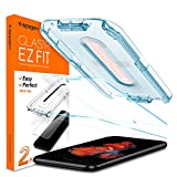 Spigen Tempered Glass Screen Protector [Glas.tR EZ Fit] Designed for iPhone 8 Plus [5.5 inch] [Case Friendly] - 2 Pack