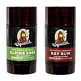 Dr. Squatch Natural Deodorant for Men – Odor-Squatching Men's Deodorant Aluminum Free - Alpine Sage + Bay Rum (2.65 oz, 2 Pack)