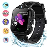 Smart Watch for Kids Students ,Waterproof Kids Smart Watches LBS/GPS Tracker SOS Camera Voice Chat Touch Screen Phone Watch for 3-12 Years Old Students Great Birthday Gift…