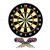 Hey! Play! 15-DG5218 TG Dart Game Set with 6 Darts and Board Dart Board,Black