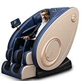 2021 New Massage Chair Blue-Tooth Connection and Speaker, Recliner with Zero Gravity with Full Body Air Pressure, Easy to Use at Home and in The Office (Blue)