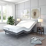 Classic Brands Comfort Upholstered Adjustable Bed Base with Massage, Wireless Remote, Three Leg Heights, and USB Ports-Ergonomic, Full, Black