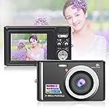 HD Mini Digital Cameras,21MP Point and Shoot Digital Video Cameras-Travel,Camping,Gifts (Black 1)