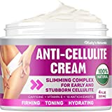 Cellulite Cream for 100% Complete Cellulite Removal - Made In USA - Hot Cream with Caffeine Cellulite Treatment - Slimming, Firming & Tightening - Works for Anti Cellulite Oil Massage & Workout Sweat