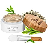 White Tea Mud Mask - 100 ml, Antioxidant Facial Treatment, Smoothes Fine Lines, Wrinkles, Deep Cleanse, Detoxifies Face, Reduce Dark Spots, Blackheads Remover, Pore Minimizer, For Younger Looking Skin