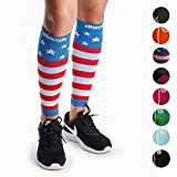 Calf Compression Sleeves Pair - Leg Compression Socks for Calves Shin Splint Muscle Pain Running Women Men Kids Best Gift for Runners
