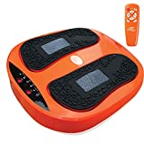Power Legs Vibration Plate Foot Massager Platform with Rotating Acupressure Heads Multi Setting Electric Foot Massager with Remote Control