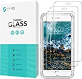 Syncwire Screen Protector for iPhone 8/7/6s/6 [3-Pack], Anti-Fingerprint 9H Tempered Glass Protective Screen for iPhone 8/7/6s/6 (Screen-Alignment Frame Included, Bubble-Free) [Not Edge to Edge]