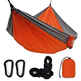 oaskys Camping Hammock Double with 2 Tree Straps Made of Portable Lightweight Nylon Parachute for Backpacking,Travel,Beach,Yard and Outdoor Survival