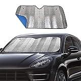 Windshield Sunshade Car Foldable UV Ray Reflector Auto Front Window Sun Shade Visor Shield Shade,Keeps Vehicle Cool - Blue (55' x 27.5')