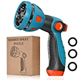 Garden Hose Nozzle - 10 Adjustable Patterns Metal High Pressure Hose Nozzle, Garden Hose Spray Nozzle with Thumb Control Design, Hose Sprayer for Garden & Lawns Watering, Cleaning, Pets & Car Washing