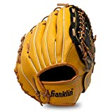 Franklin Sports Baseball and Softball Glove - Field Master - Baseball and Softball Mitt , 12' - Trapeze Web, Tan