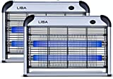 LiBa Bug Zapper Electric Indoor Insect Killer Mosquito, Bug, Fly Killer Powerful 2800V Grid (2-Pack)