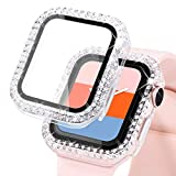 KADES Compatible for Bling Apple Watch Protective Case with Built-in Screen Protector for Apple Watch 38mm 40mm 42mm 44mm iWatch SE Series 6 5 4 3 2 1 (40mm, Clear)
