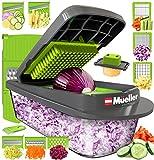 Mueller Austria Pro-Series 8 Blade Egg Slicer, Onion Mincer Chopper, Slicer, Vegetable Chopper, Cutter, Dicer, Vegetable Slicer with Container
