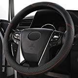 Universal Auto Car Steering Wheel Cover Breathable Anti-Slip, Odorless, 15 inch Microfiber Leather Steering Wheel Cover for Car Truck SUV