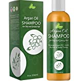 Argan Oil Shampoo for Oily Hair - Sulfate Free Clarifying Shampoo for Greasy Hair and Scalp - Natural Shampoo for Men and Women with Argan Oil for Hair Nourishing Keratin and Jojoba Oil for Hair Care