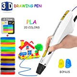 GeekSpark 3D Pen, Intelligent 3D Printing Pen, Newest Version 3D Drawing Pen with 20 Colors PLA Filament Refills for Kids Toys and Adults Arts Crafts Model DIY, Non-Clogging