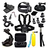 MRMASS Accessories for Gopro Hero 7 AKASO EK7000 Brave 4 Victure Crosstour Apeman VicTsing Action Camera Accessory Bundle with Case