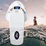 SOMUNS Adult Underwater Sea Scooter, Electric Surfboard with 12AH 3200W 36V Battery LCDDisplay 2 Modes Propeller Diving Equipment Suitable for Swimming(White)