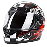 Cartman Motorcycle Modular Full Face Helmet, Flip up Visor Shield DOT Approved, X-Large
