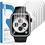 RAXFLY [8 Pack] Screen Protector Compatible with for Apple Watch Series 6/5/4 SE 40mm and Apple Watch Series 3/2/1 38mm Soft HD Full Coverage Screen Protector Clear