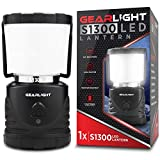 GearLight LED Camping Lantern S1300 - Up to 72 Hours Battery Powered Light - Outdoor, Camp, Tent, Hurricane, and Emergency Lanterns