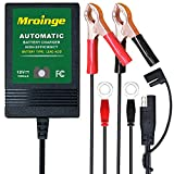 Mroinge MBC010 Automotive Trickle Maintainer 12V 1A Smart Automatic Charger for Car Motorcycle Boat Lawn Mower SLA ATV Wet Agm Gel Cell Lead Acid Batteries