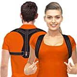 Posture Corrector for Men and Women - Upper Back Brace Straightener with Adjustable Breathable Clavicle Support Effective for Neck, Back and Shoulder Pain Relief Lumbar Support(Unisex) (Regular)