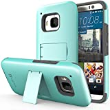 HTC One (M9) Case - VENA [Legacy] Slim Fit Dual Layer Hybrid Case with Kickstand & Screen Protector for HTC One M9 (2015) - Teal & Gray