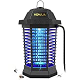 HEMIUA Bug Zapper Pro Outdoor Patio Mosquito Killer - Insect Killer Fly Pests Attractant Trap for Outdoor and Indoor Hangable Black