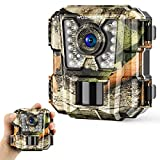 Wosports Mini Trail Camera 16MP 1080P HD Wildlife Scouting Hunting Camera with IR Night Vision Waterproof Video Cam G100