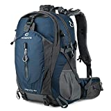 FENGDONG 40L Waterproof Lightweight Outdoor Daypack Hiking,Camping,Travel Backpack for Men Women Blue
