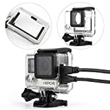 WiserElectron Protective Housing Case Open Side with Lens and Skeleton Backdoor for Gopro Hero 4 3+ Camera