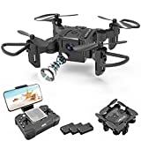 4DRC Foldable Mini Drone with 720P HD Camera for Kids,FPV Live Video RC Quadcopter Helicopter for Beginners,Toys Gifts for Boys Girl,One Key Return,Headless Mode,Trajectory Flight,3D Flips