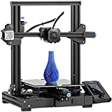 Ender 3 V2 3D Printer, Official Creality DIY 3D Printer, Upgraded Silent Motherboard, Meanwell Power Supply, Carborundum Glass Plate, Resume Printing for Beginners and Home Users 220x220x250mm (black)
