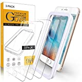 Arae Screen Protector for iPhone 7 Plus / 8 Plus, HD Tempered Glass, Anti Scratch Work with Most Case, 5.5 inch, 3 Pack