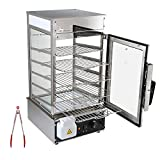 110 Volt Chef Prosentials Bun steamer electric food display automatic temperature control 5 layers display Stainless Steel Bun Steamer For Kiosk