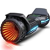 Gyroor Hoverboard Offroad All Terrain Flash Wheel Self Balancing G5 Hoverboards with Bluetooth Speaker, UL 2272 Certified Best Gift for Kids and Adults.