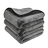GTF Microfiber Car Cleaning Cloths, Upgraded 1200gsm Ultra-Thick Car Drying Towel Microfiber Cloth for Car and Home Polishing Washing and Detailing 16'' x 16''(3 Pack)