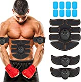 JoJoMooN Muscle Toner Abdominal Toning Belt EMS ABS Toner Body Muscle Trainer Wireless Portable Unisex Fitness Training Gear for Abdomen/Arm/Leg Training Home Office Exercise