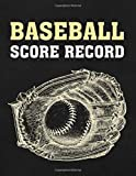 Baseball Score Record: Games Scorekeeping Handbook | Baseball Ball and Glove Elegant Graphic Design (Baseball Score Journal)