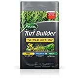 Scotts Turf Builder Triple Action - Weed Killer & Preventer, Lawn Fertilizer, Prevents Crabgrass, Kills Dandelion, Clover, Chickweed & More, Covers up to 4,000 sq. ft., 20 lb.