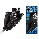 FootJoy Men's RainGrip Pair Golf Glove Black Large, Pair