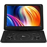 "DR. J 17.9' Region Free Portable DVD Player with 6 Hours Rechargeable Battery, Large 15.4"" Screen DVD Player Sync TV Support USB/SD Card and Multiple Disc Formats, High Volume Speaker Black"