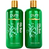 Oily Hair Shampoo & Conditioner Set for Oily Hair. Hair Strengthener & Itchy Scalp Shampoo Treatment. Natural Oily Hair Shampoo for Women & Men. No Sulfates - For all Hair Types.