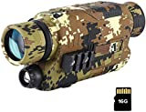 BOBLOV Digital Night Vision, 16GB Night Vision Monocular,5x32 Scope Digital Night Vision 150Yards Full Dark,Day&Night Usage with Filter, Camouflage for Hunting and Wildlife Observe